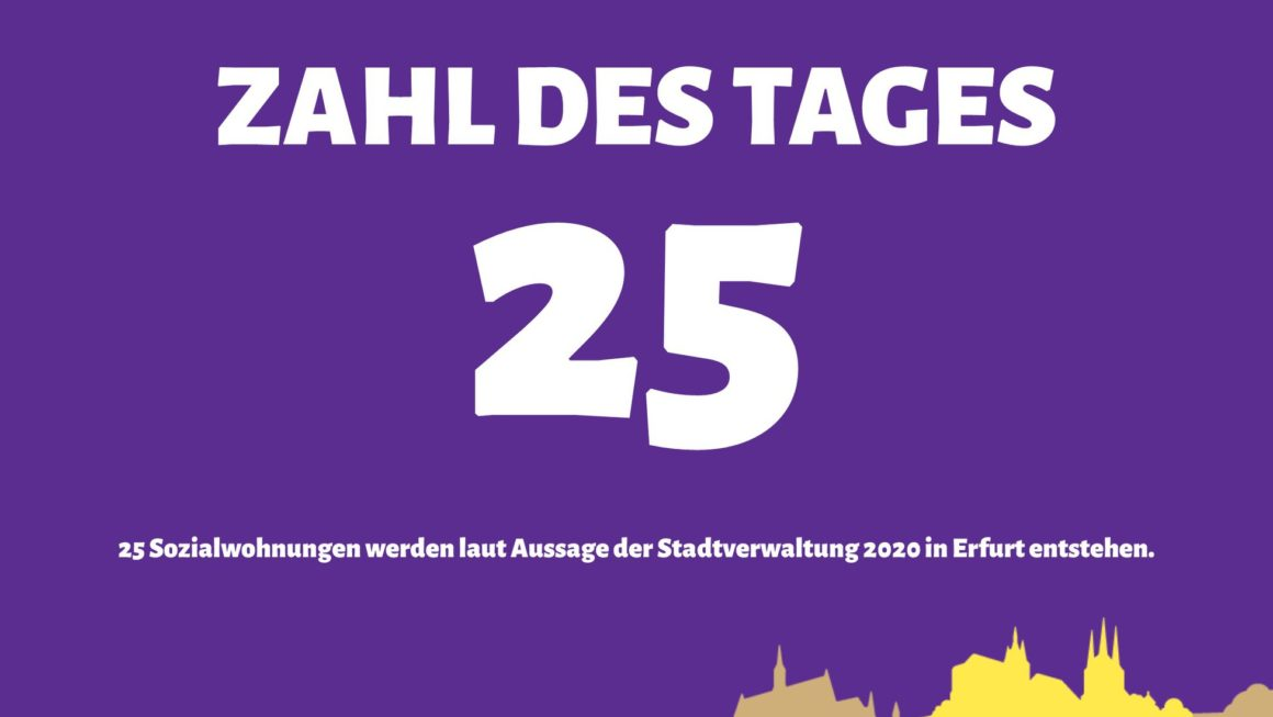 25 Sozialwohnungen für Erfurt in 2020