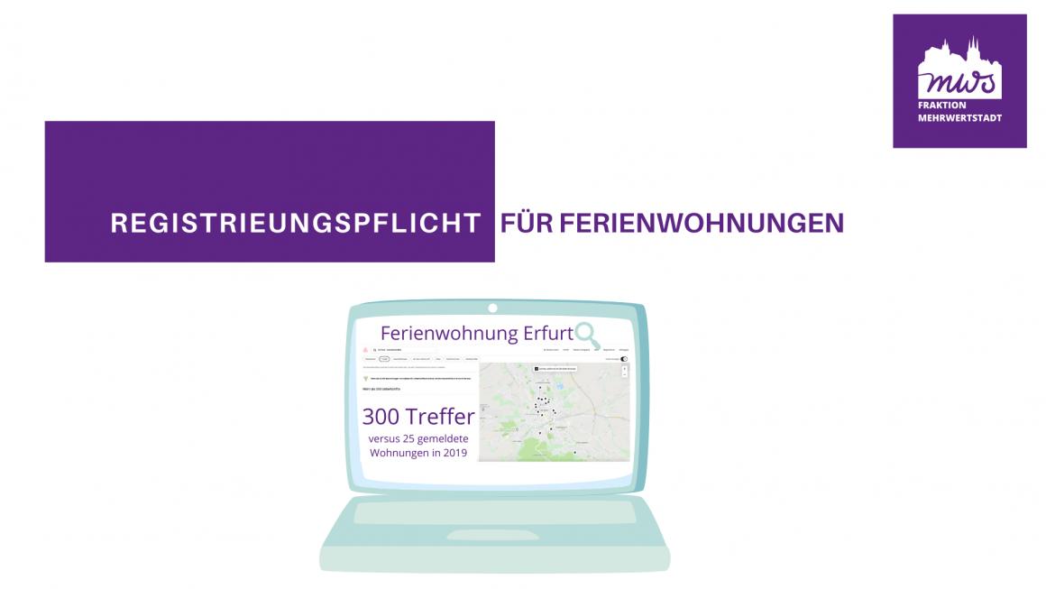 Registrierungspflicht für Ferienwohnungen in Erfurt
